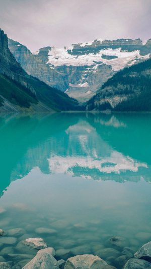 Canada Lake Blue Louise Green Water Nature iPhone 7 wallpaper