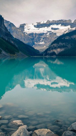 Canada Lake Louise Green Water Nature iPhone 7 wallpaper