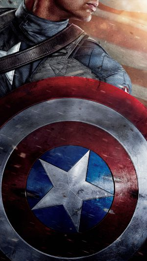 Captain America Poster Film Hero Art iPhone 7 wallpaper