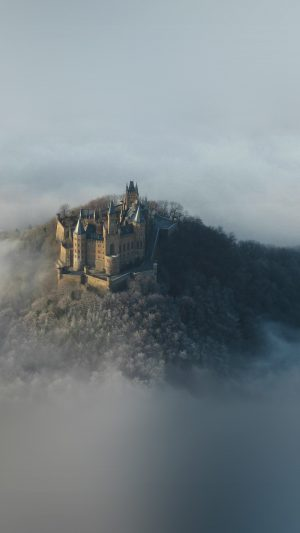Castle Sky Cloud Dream Fantasy Art Nature iPhone 7 wallpaper