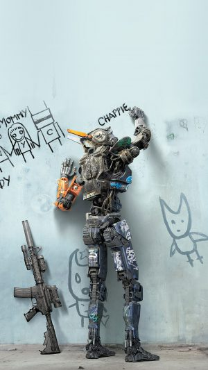 Chappie Robot Art Film Poster iPhone 7 wallpaper