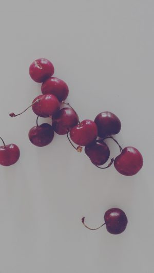 Cherry Red Dark Paula Borowska Fruit Nature iPhone 7 wallpaper