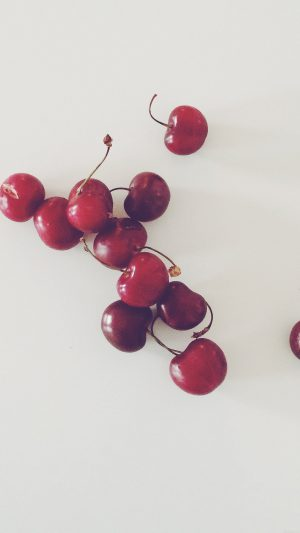 Cherry Red Paula Borowska Fruit Nature iPhone 7 wallpaper