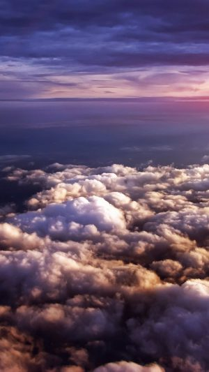 Cloud Flare Sky View Nature iPhone 7 wallpaper