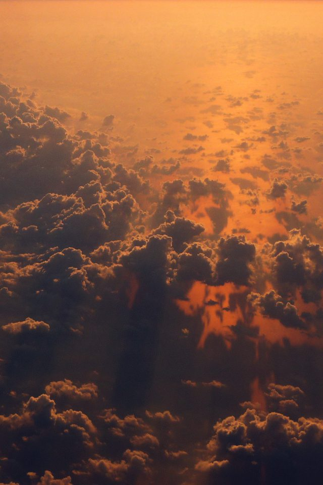 Cloud Nine Sky Fly Sunset Red Nature iPhone wallpaper