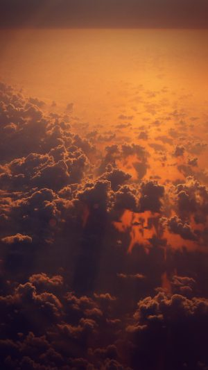 Cloud Nine Sky Fly Sunset Red Nature Flare iPhone 7 wallpaper
