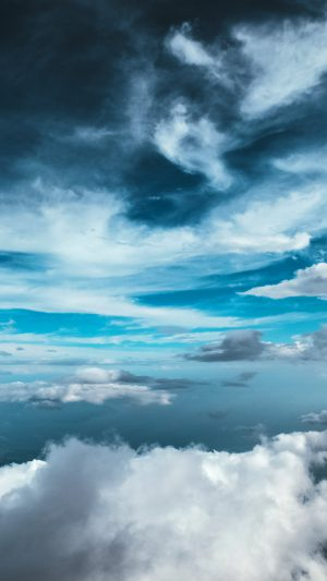 Cloud Sky Nature Blue iPhone 7 wallpaper
