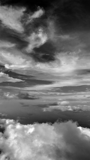Cloud Sky Nature Dark Bw iPhone 7 wallpaper