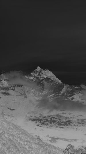 Cold Mountain Snow Nomore Nature Cloud Dark iPhone 7 wallpaper