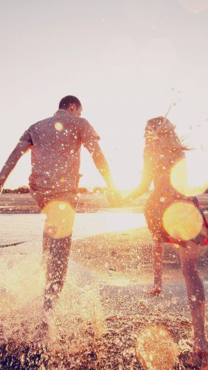 Couple Love Beach Happy Marry Me Nature Dark iPhone 7 wallpaper