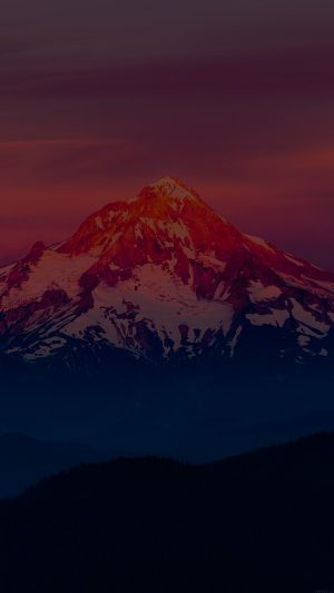 Dark Sunset Snow Mountain Nature iPhone 7 wallpaper