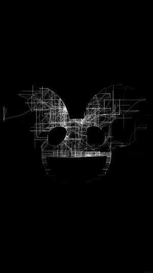 Deadmau5 Black Logo Art Music iPhone 7 wallpaper