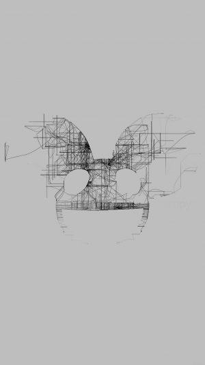 Deadmau5 White Logo Art Music iPhone 7 wallpaper