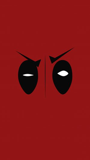 Deadpool Hero Eye Logo Art Film iPhone 7 wallpaper