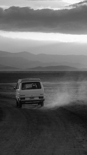 Desert Car Dark Bw Drive Nature Love iPhone 7 wallpaper
