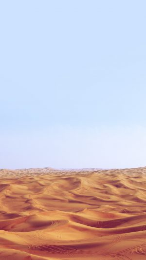 Desert Minimal Blue Nature Sky Earth iPhone 7 wallpaper