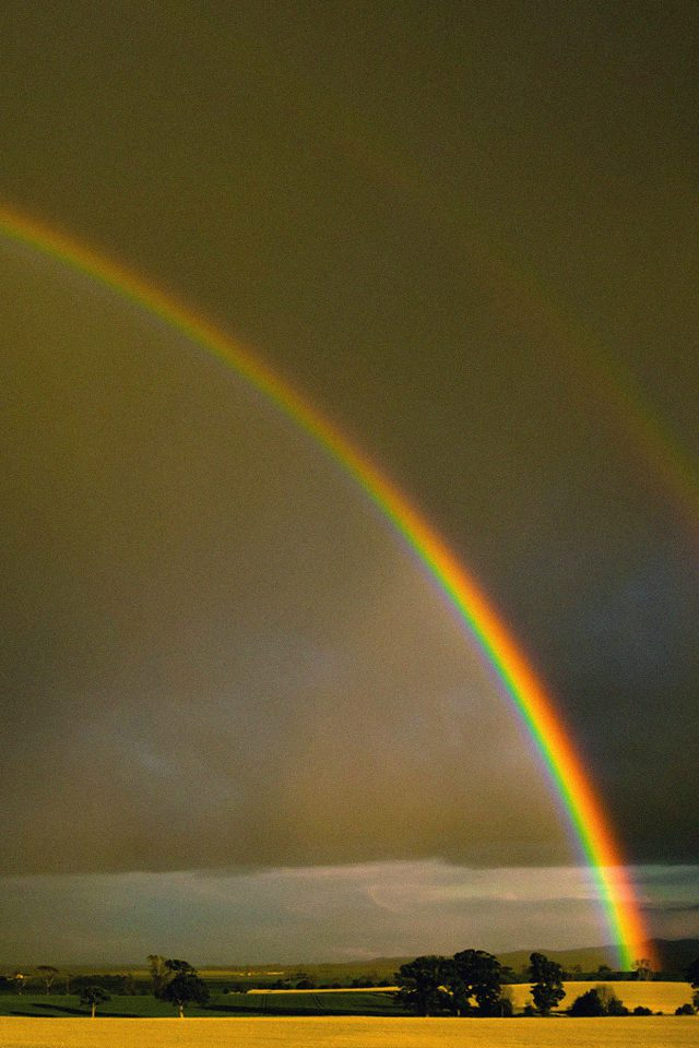 Double Rainbow Nature iPhone wallpaper