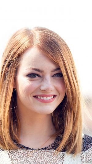 Emma Stone Smile Celebrity Film iPhone 7 wallpaper
