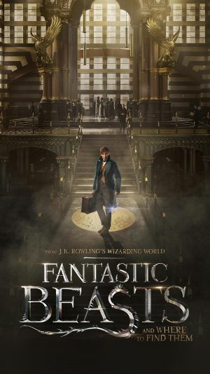 Fantastic Beasts And Where To Find Them Film Illustration Art Poster iPhone 7 wallpaper