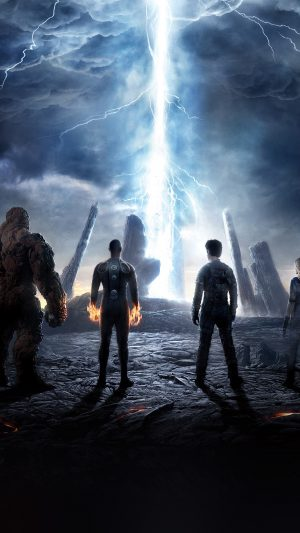 Fantastic Four Movie Poster Action Film iPhone 7 wallpaper