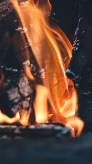 Fire Camp Thomas Lefebvre Nature iPhone 7 wallpaper