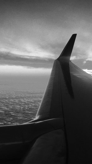 Fly Travel Sunset Red Nature Air Sky Bw Dark iPhone 7 wallpaper