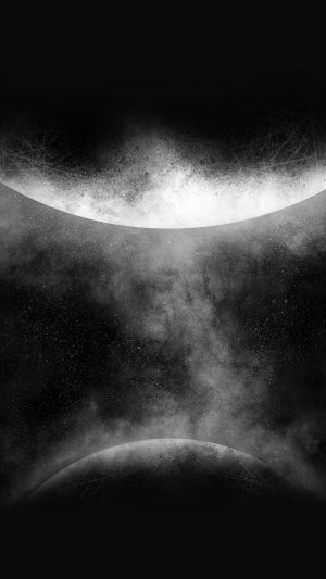 Getting Orbit Ios9 Art Illust Space Dark Bw iPhone 7 wallpaper