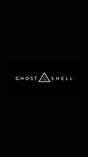 Ghost In The Shell Dark Logo Film Illustration Art iPhone 7 wallpaper