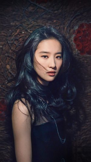 Girl Liu Yifei China Film Actress Model Singer Dark iPhone 7 wallpaper