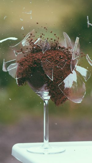 Glass Breaking Nature Art iPhone 7 wallpaper