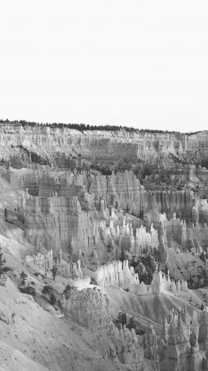 Grand Canyon Creek Nature Desert Scene Bw iPhone 7 wallpaper
