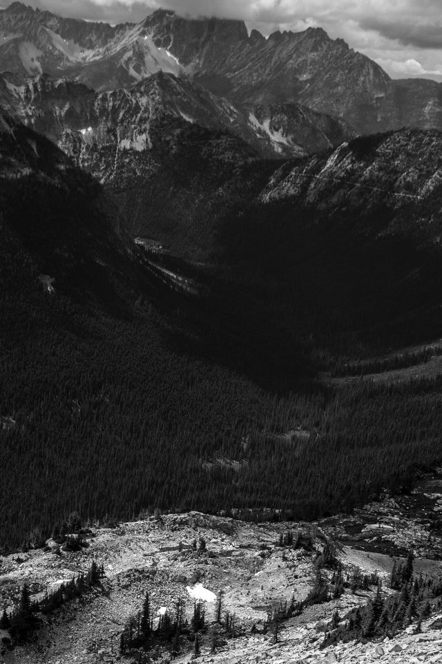 Great Mountain View Dark Bw Nature iPhone wallpaper