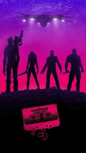 Guardians Of The Galaxy Poster Film Art Illust iPhone 7 wallpaper