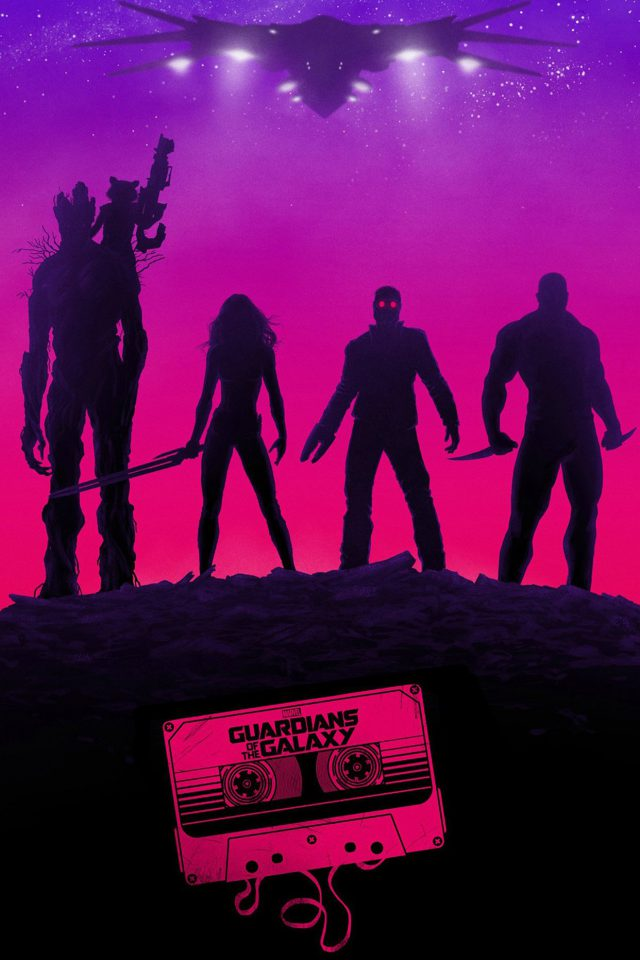Guardians Of The Galaxy Poster Film Art Illust iPhone wallpaper