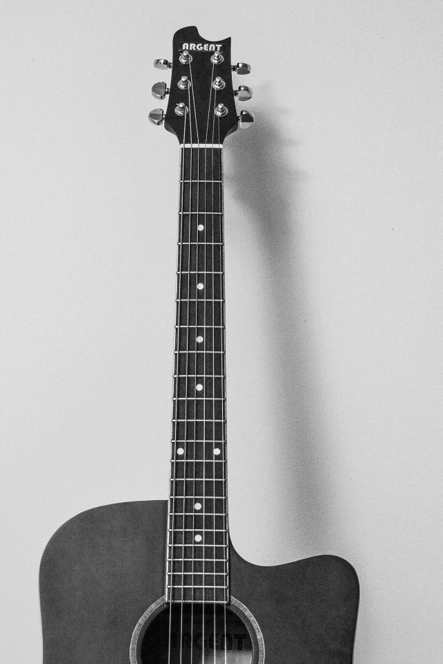 Guitar Art Bw Dark Music Son Iphone 7 Wallpaper Iphone7wallpapers Co
