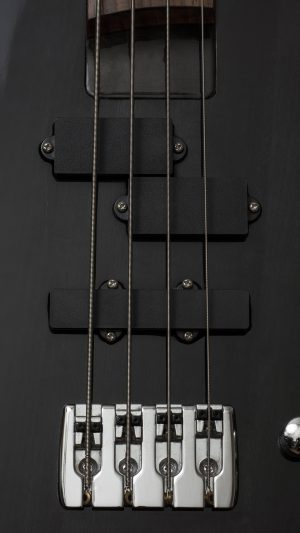 Guitar Bass Electric Music Dark Black Illustration Art iPhone 7 wallpaper