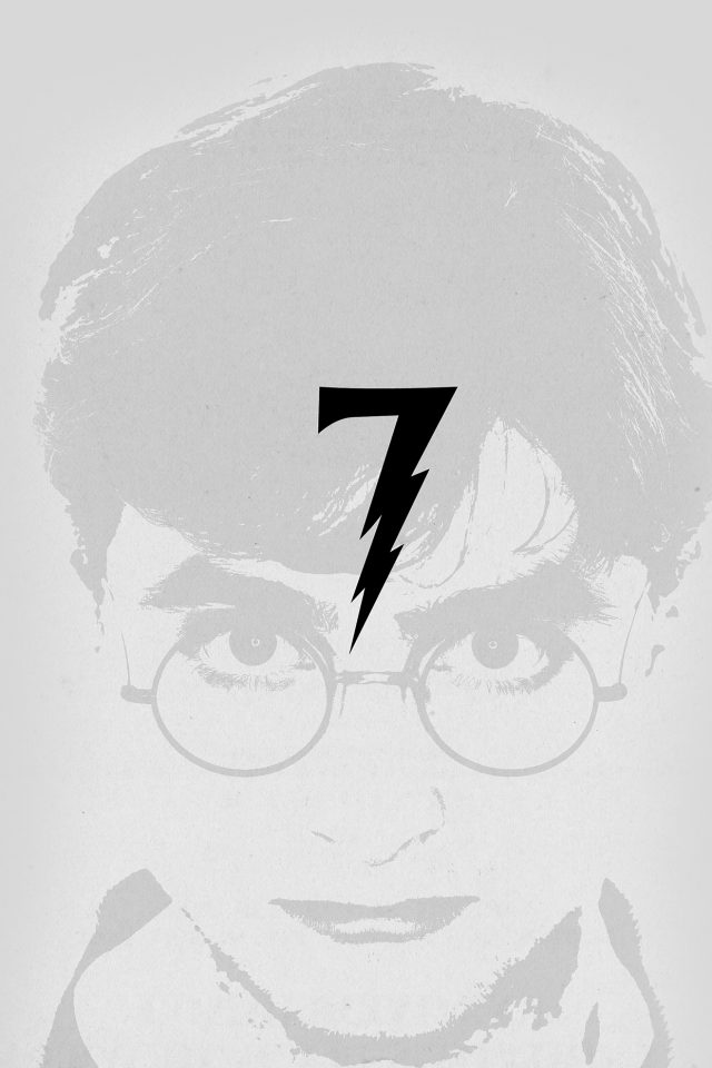 Harry Potter Art Minimal Film Gray Iphone 7 Wallpaper