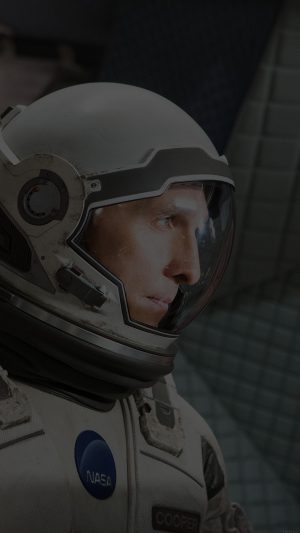 Interstellar Cooper Film Dark Actor Matthew Mcconaughey iPhone 7 wallpaper