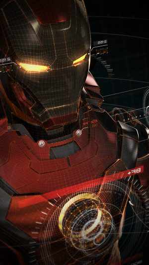Ironman 3d Red Game Avengers Art Illustration Hero Vignette iPhone 7 wallpaper