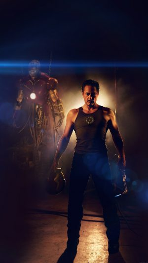Ironman Avengers Art Robert Downey Jr Film Flare iPhone 7 wallpaper