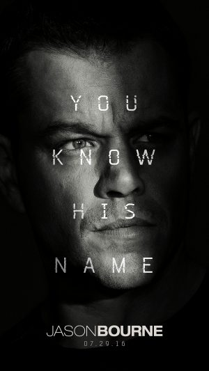 Jason Bourne Film Poster Art Illustration iPhone 7 wallpaper