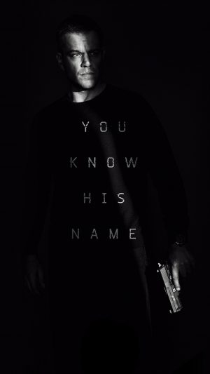 Jason Bourne Film Poster Art Illustration Full iPhone 7 wallpaper