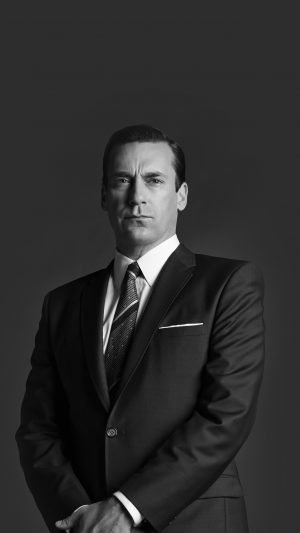 Jon Hamn Mad Men Film Actor Dark Bw iPhone 7 wallpaper