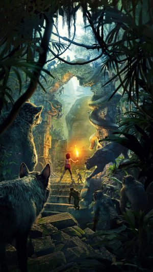 Junglebook Art Film 2016 Poster Nature iPhone 7 wallpaper