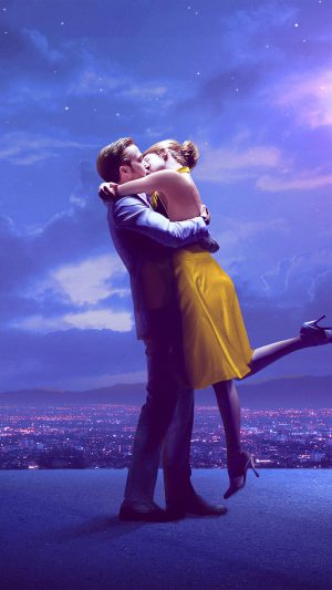 Lalaland Film Movie Purple Blue Poster Illustration Art Jazz iPhone 7 wallpaper