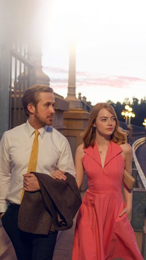 Lalaland Ryan Gosling Emma Stone Red Film iPhone 7 wallpaper