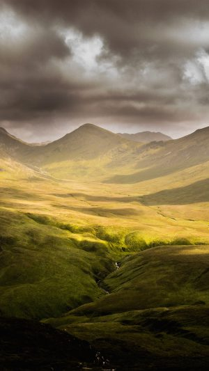 Landscape Green Mountain Windows Nature iPhone 7 wallpaper