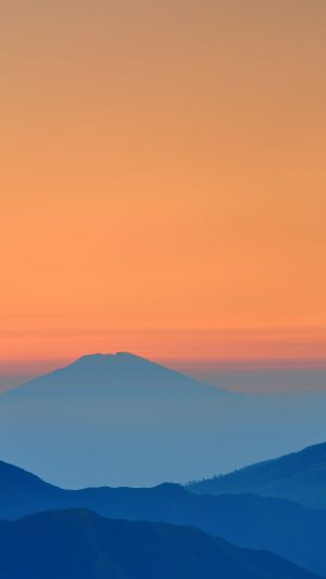 Landscape Sunrise Mountain Nature Red Blue iPhone 7 wallpaper