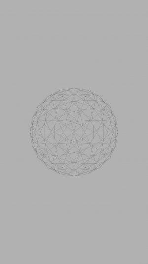 Line Abstract Circle 3d Art Gray iPhone 7 wallpaper