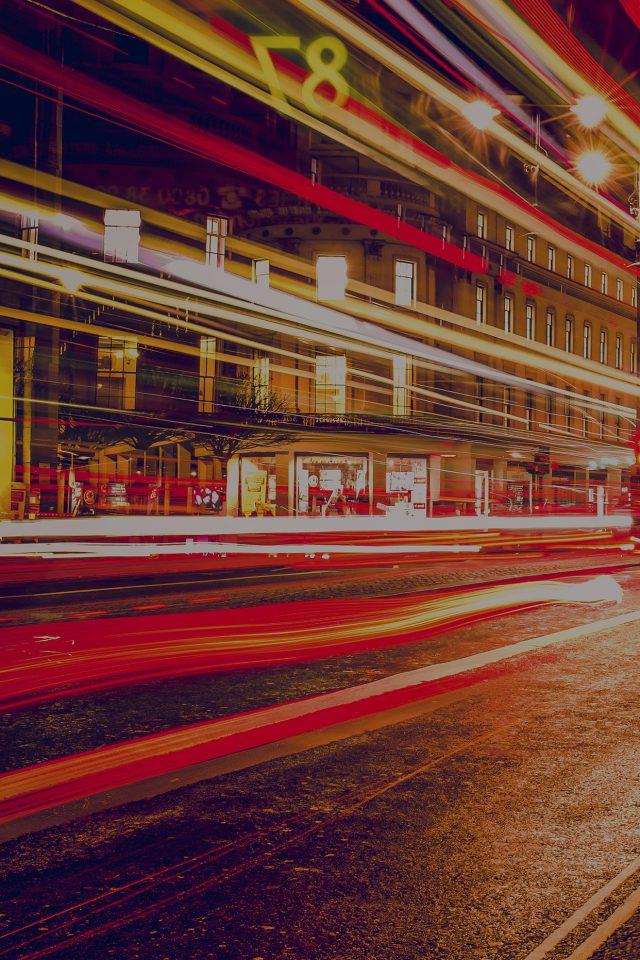 London City Car Lights Night Bokeh Dark Iphone 7 Wallpaper